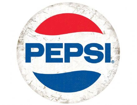Pepsi Cola - Modern Round - Metal Wall Sign (2 sizes)